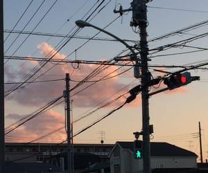 clouds, japan, and orange image