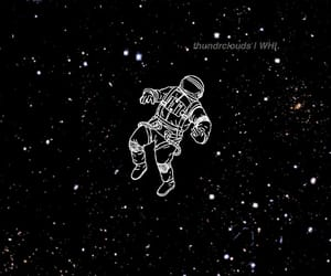 astronaut, astronomy, and galaxies image