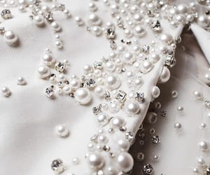 white, pearls, and elie saab image