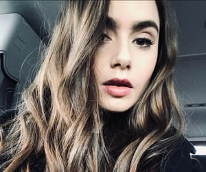 lily collins, actress, and beauty image