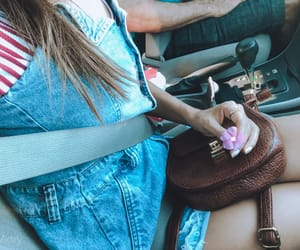 cars, clothes, and couple image