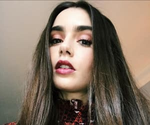 lily collins, girl, and beauty image