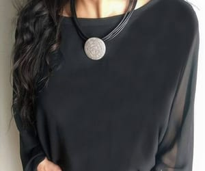 ancient greece, leather necklace, and womens necklace image