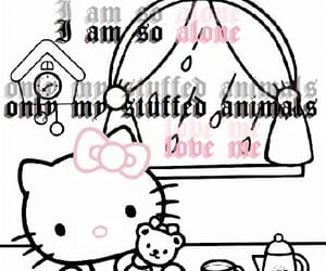 goth and hello kitty image