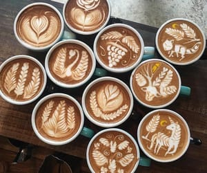 art, coffee, and delicious image