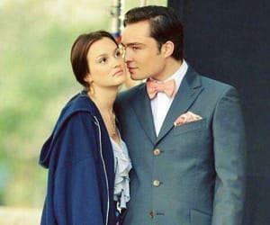 gossip girl, chuck bass, and couple image