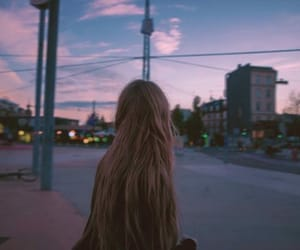girl, sky, and grunge image
