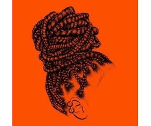 art, hairstyle, and book image