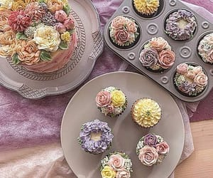 cupcake, fantasy, and flowers image