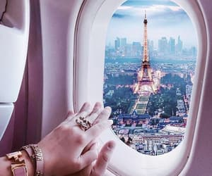 couple, flight, and france image