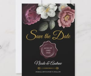 elegant, gothic, and save the date image