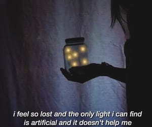 quotes, fireflies, and sad image