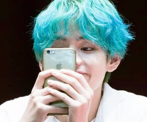 blue hair, 190421, and bts image