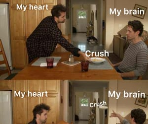 brain, crush, and crushes image