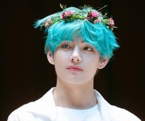 blue hair, 190421, and flower crown image