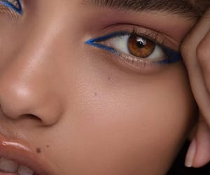 closeup, eye, and face image