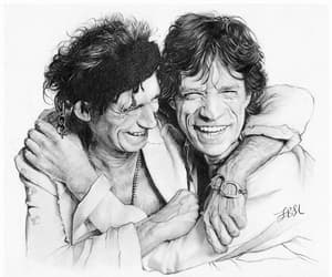 Keith Richards, mick jagger, and musicians image