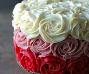 cake, food, and rose image