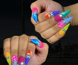 acrylic, nails, and longnails image