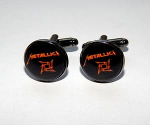 etsy, heavy metal, and music cufflinks image