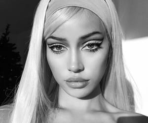 beauty, black and white, and cindy kimberly image