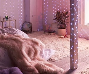 cozy, lavender, and lights image