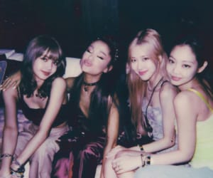 ariana grande, blackpink, and lisa image