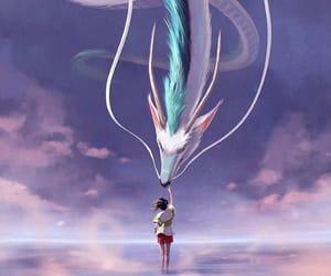 chihiro, dragon, and anime image
