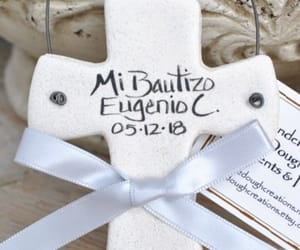 cross, personalized gifts, and baptism favors image