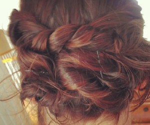 braid, girl, and hair image