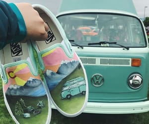cars, vans, and retro image