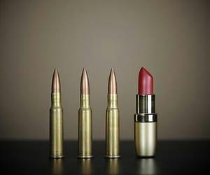 lipstick, bullet, and gun image