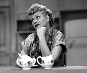 black and white, classic, and I Love Lucy image