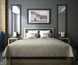 bedroom, home decor, and bedroom interior image