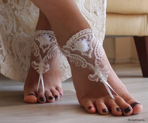 etsy, barefoot sandals, and bridal anklet image
