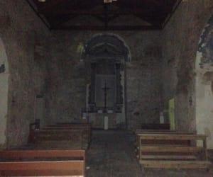 black, church, and creepy image