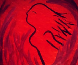 art, red, and kunst image