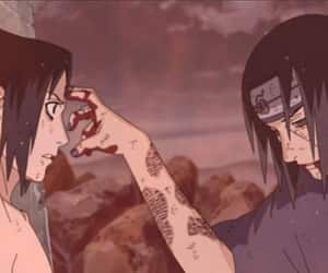 sasuke, itachi, and naruto image