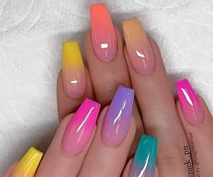 acrylic, nails, and colorful image
