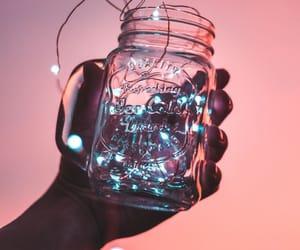 light, jar, and pink image