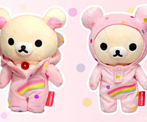 kawaii, pink, and rainbow image
