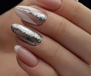 nails, Nude, and silver image