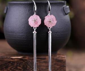 etsy, wedding earrings, and tassel earrings image
