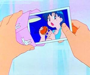sailor moon, hamburger, and mizuno ami image