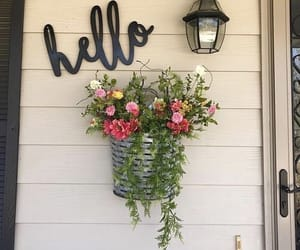 decor, flowes, and hello image