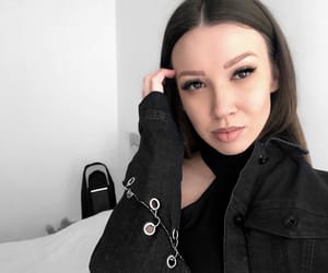bnw, eyeliner, and style image