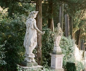 statue, green, and nature image