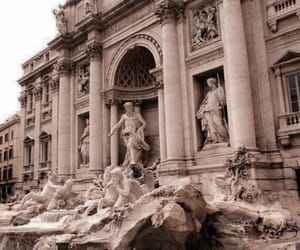 italy and trevi fountain image