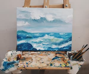 art, white, and blue image