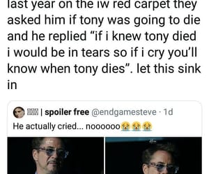actor, Avengers, and ironman image